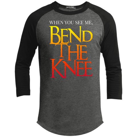 Bend the Knee Sporty T-Shirt T-Shirts- Warrior Design Co. | Quality Affordable Branding Solutions
