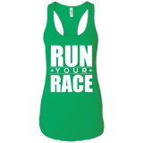 Run Your Race Women's Tank T-Shirts- Warrior Design Co. | Quality Affordable Branding Solutions