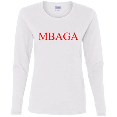 MBAGA Women's LS T-Shirt T-Shirts- Warrior Design Co. | Quality Affordable Branding Solutions