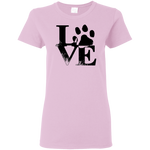 Dog Love Women's T-Shirt T-Shirts- Warrior Design Co. | Quality Affordable Branding Solutions