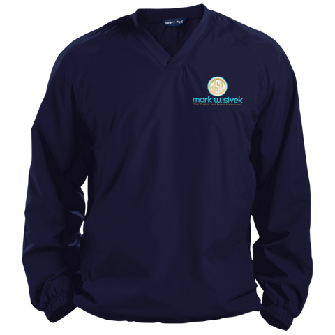 Mark Sivek Pullover V-Neck Windshirt Jackets- Warrior Design Co. | Quality Affordable Branding Solutions