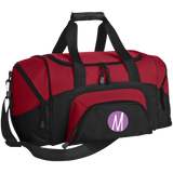 Moore Marketing Icon Colorblock Sport Duffel Bag Bags- Warrior Design Co. | Quality Affordable Branding Solutions