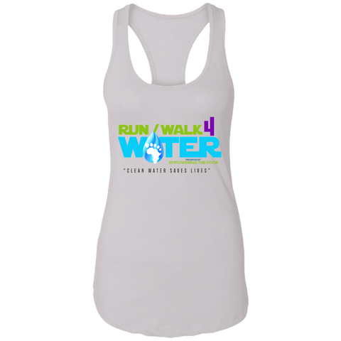 Run/Walk 4 Water Racerback Tank T-Shirts- Warrior Design Co. | Quality Affordable Branding Solutions