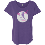 Angels of Las Vegas Women's Triblend Dolman Sleeve T-Shirts- Warrior Design Co. | Quality Affordable Branding Solutions