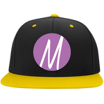 Moore Marketing Icon High-Profile Snapback Hat Hats- Warrior Design Co. | Quality Affordable Branding Solutions