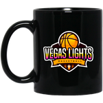 Vegas Lights 11 oz. Black Mug Drinkware- Warrior Design Co. | Quality Affordable Branding Solutions