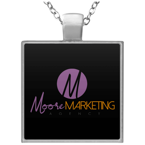MM Square Necklace Jewelry- Warrior Design Co. | Quality Affordable Branding Solutions
