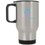 Connie Breeze Silver Stainless Travel Mug - Warrior Design Co. | Quality Affordable Branding Solutions