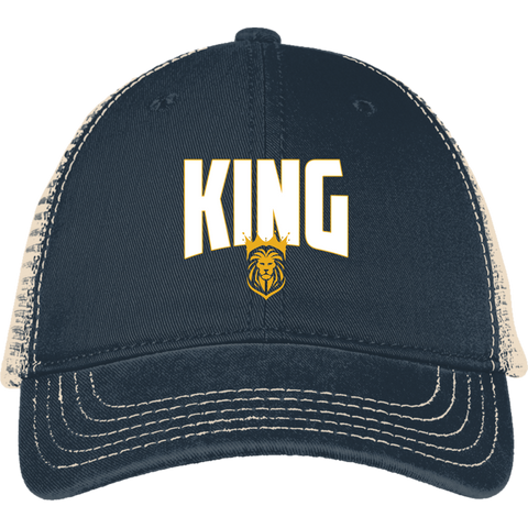 King Mesh Back Cap Hats- Warrior Design Co. | Quality Affordable Branding Solutions