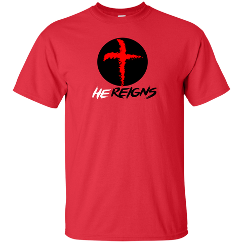 He Reigns Men's T-Shirt T-Shirts- Warrior Design Co. | Quality Affordable Branding Solutions