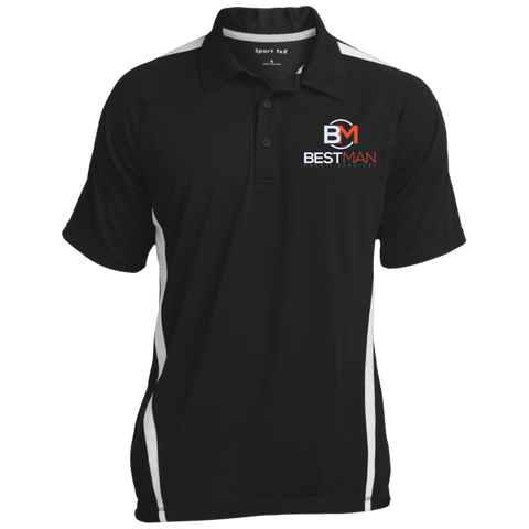 Best Man Colorblock 3-Button Polo Polo Shirts- Warrior Design Co. | Quality Affordable Branding Solutions
