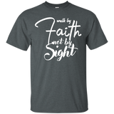 Walk By Faith Men's T-Shirt T-Shirts- Warrior Design Co. | Quality Affordable Branding Solutions