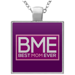 Best Mom Ever Square Necklace Jewelry- Warrior Design Co. | Quality Affordable Branding Solutions