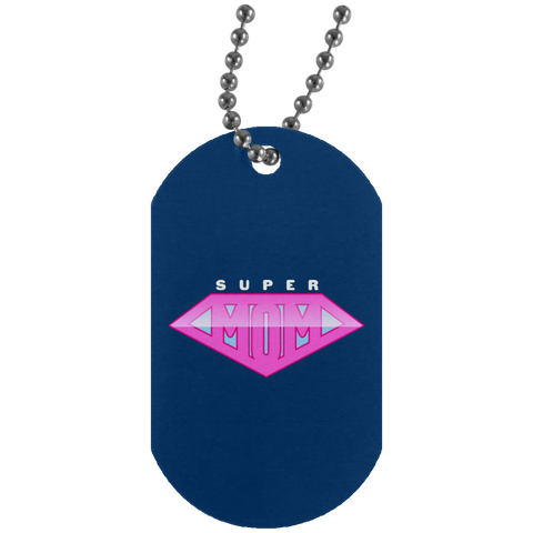Super Mom Silver Dog Tag Jewelry- Warrior Design Co. | Quality Affordable Branding Solutions