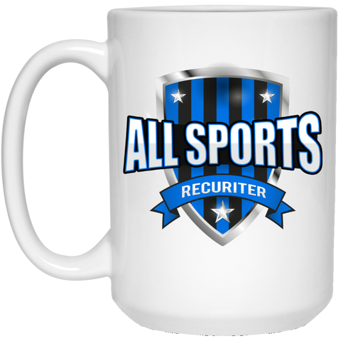All Sports Recruiter  15 oz. White Mug Drinkware- Warrior Design Co. | Quality Affordable Branding Solutions