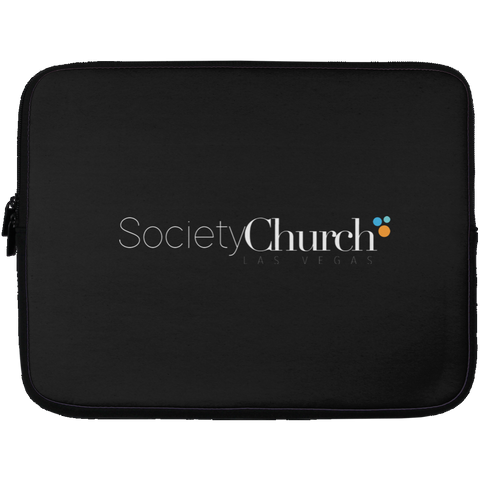 Society Church Laptop Sleeve - 13 inch Laptop Cases- Warrior Design Co. | Quality Affordable Branding Solutions