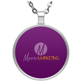 MM Circle Necklace Jewelry- Warrior Design Co. | Quality Affordable Branding Solutions