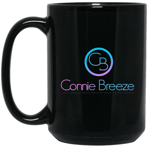 Connie Breeze15 oz. Black Mug Drinkware- Warrior Design Co. | Quality Affordable Branding Solutions