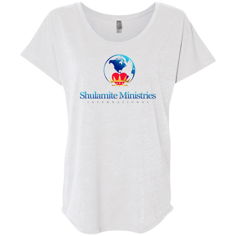 Shulamite Ministries Women's Triblend Dolman Sleeve T-Shirts- Warrior Design Co. | Quality Affordable Branding Solutions
