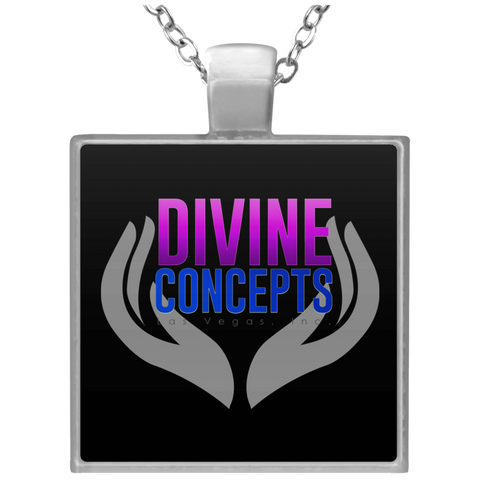 Divine Concepts Square Necklace Jewelry- Warrior Design Co. | Quality Affordable Branding Solutions