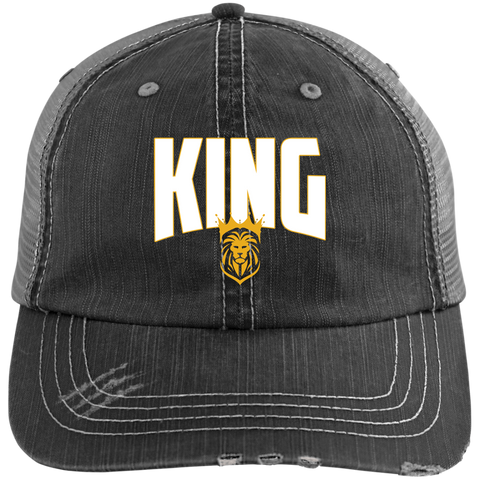 King Distressed Cap Hats- Warrior Design Co. | Quality Affordable Branding Solutions