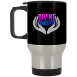 Divine Concepts Silver Stainless Travel Mug Drinkware- Warrior Design Co. | Quality Affordable Branding Solutions