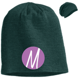 Moore Marketing Icon Slouch Beanie Hats- Warrior Design Co. | Quality Affordable Branding Solutions