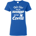 Husband & Coffee Women's T-Shirt T-Shirts- Warrior Design Co. | Quality Affordable Branding Solutions