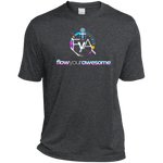 Flow Your Awesome  Moisture-Wicking T-Shirt T-Shirts- Warrior Design Co. | Quality Affordable Branding Solutions