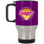 Sugar Shack Silver Stainless Travel Mug Drinkware- Warrior Design Co. | Quality Affordable Branding Solutions