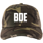 Best Dad Ever Distressed Cap Hats- Warrior Design Co. | Quality Affordable Branding Solutions