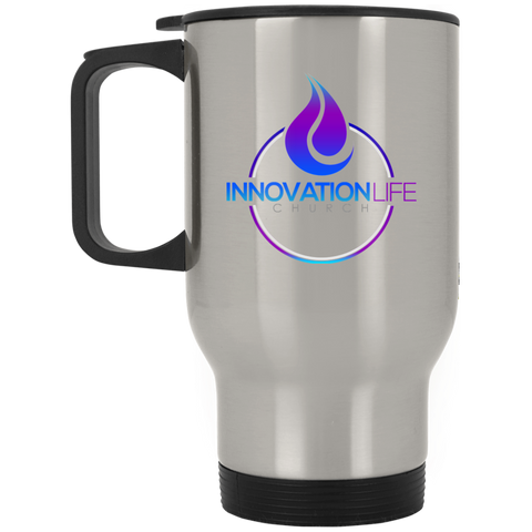Innovation Life Silver Stainless Travel Mug - Warrior Design Co. | Quality Affordable Branding Solutions
