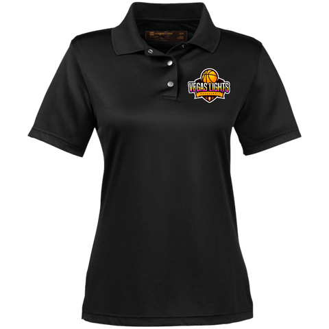 Vegas Lights  Women's Performance Polo Polo Shirts- Warrior Design Co. | Quality Affordable Branding Solutions
