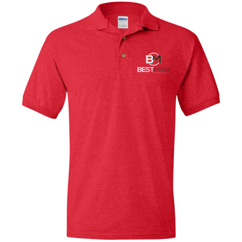 Best Man Jersey Polo Shirt Polo Shirts- Warrior Design Co. | Quality Affordable Branding Solutions