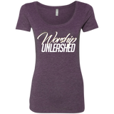Worship Unleashed Triblend Scoop T-Shirts- Warrior Design Co. | Quality Affordable Branding Solutions