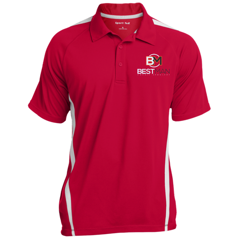 Best Man Colorblock 3-Button Polo - Warrior Design Co. | Quality Affordable Branding Solutions