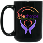 Life Change Outreach 15 oz. Black Mug Drinkware- Warrior Design Co. | Quality Affordable Branding Solutions