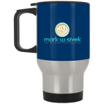 Mark Sivek Silver Stainless Travel Mug Drinkware- Warrior Design Co. | Quality Affordable Branding Solutions