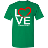 Love Conquers All Men's T-Shirt T-Shirts- Warrior Design Co. | Quality Affordable Branding Solutions