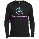 Flow Your Awesome  Moisture Absorbing T-Shirt T-Shirts- Warrior Design Co. | Quality Affordable Branding Solutions
