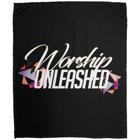 Worship Unleashed Medium Velveteen Micro Fleece Blanket Housewares- Warrior Design Co. | Quality Affordable Branding Solutions