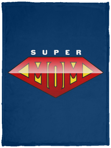 Super Mom Cozy Plush Fleece Blanket - 30x40 Blankets- Warrior Design Co. | Quality Affordable Branding Solutions