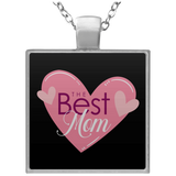 Best Mom Square Necklace Jewelry- Warrior Design Co. | Quality Affordable Branding Solutions