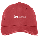 Life Change Distressed Cap Hats- Warrior Design Co. | Quality Affordable Branding Solutions