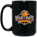 Vegas Lights 15 oz. Black Mug Drinkware- Warrior Design Co. | Quality Affordable Branding Solutions