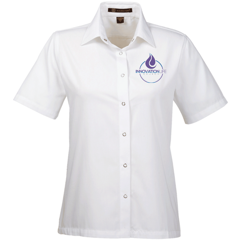 Innovation Life Women's Snap Closure Short-Sleeve Shirt - Warrior Design Co. | Quality Affordable Branding Solutions