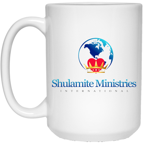 Shulamite 15 oz. White Mug Drinkware- Warrior Design Co. | Quality Affordable Branding Solutions