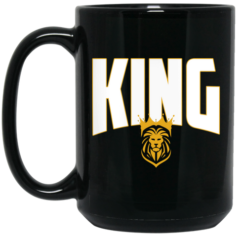 KING 15 oz. Black Mug Drinkware- Warrior Design Co. | Quality Affordable Branding Solutions