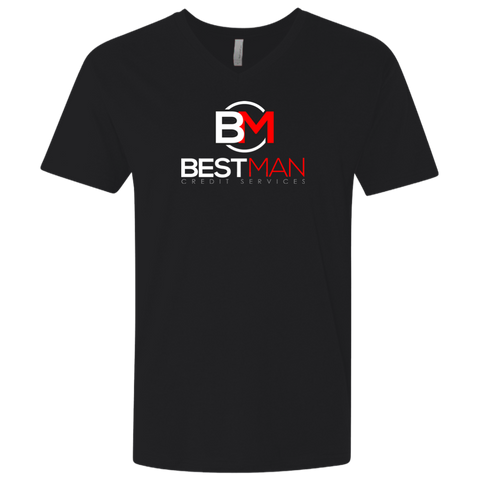 Best Man Fitted V-Neck T-Shirts- Warrior Design Co. | Quality Affordable Branding Solutions