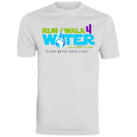 Run/Walk 4 Water Men's Wicking T-Shirt T-Shirts- Warrior Design Co. | Quality Affordable Branding Solutions